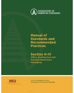 Section K Part IV - Office Architecture and Railroad Electronics Messaging - PDF (Electronic)