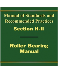 Section H Part II - Roller Bearing Shop Manual (2017)