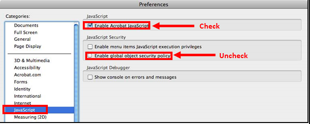 Mac - Adobe Reader - Disable Global Object Security Policy